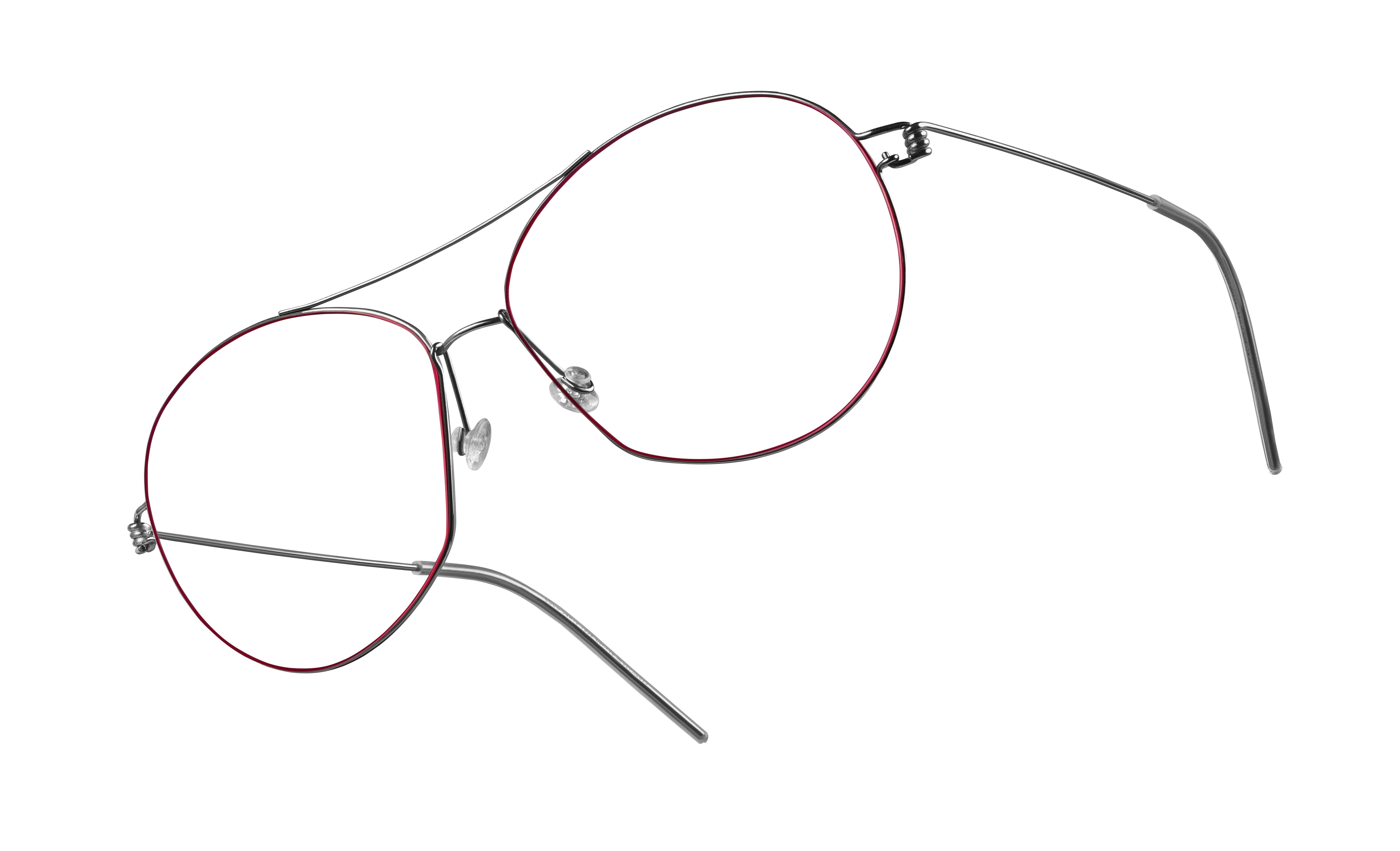 Korrekturbrille mit dünnem, schwarzen Gestell von Lindberg.